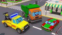 Giant Red Truck & The Excavator - Construction Vehicles 3D Kids Cartoon Cars & Trucks Stories
