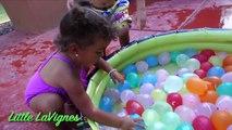 COLOR WATER BALLOON CHALLENGE Surprise Eggs Thomas and Friends + Shopkins Toys Surprise!