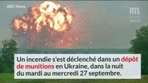 VIDÉO - Ukraine : un dépôt de munitions ravagé par les explosions