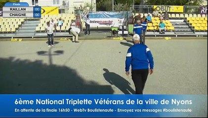 National Triplettes Vétérans de la ville de Nyons 2017 - La finale