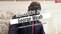 Rencontre avec George Weah, candidat aux élections présidentielles au Libéria
