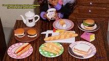 Como fazer cachorro-quente,pão e baguete (de cola quente) para boneca Monster High, Barbie, etc
