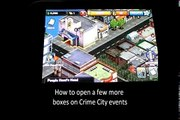 Crime City Events how to open boxes after the event is over