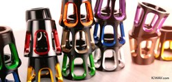 motorcycle bar ends 8 colors tower heavy style with black & silver base | KiWAV