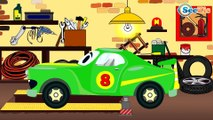 Red Race Cars & Sports Car with Cars Friends | Service & Emergency Vehicles Cartoons for children