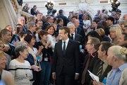 Allocution du Président de la République, Emmanuel Macron, devant la préfecture de la ville de Lyon
