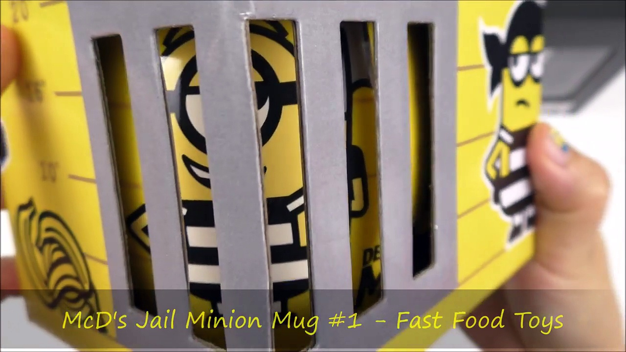 2017 McDONALD'S DESPICABLE ME 3 MOVIE MINIONS HAPPY MEAL TOYS JAIL MINIONS MUGS CUPS WORLD COLLE-RRLBMTFG60A