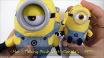 DESPICABLE ME 3 TALKING MINIONS PLUSH TOYS McDONALD'S HAPPY MEAL TOYS COLLECTION KID FULL SET 5 2017-1sJ_QsQchPs