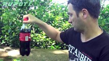 How To Make Coca Cola Fountain - Rupoti Home Experiments  Coca Cola & Mentos