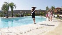 Plouf la miss ! Miss Espagne tombe dans la piscine en plein défilé !