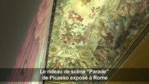 """L'énorme rideau de scène """"Parade"""" de Picasso exposé à Rome"""