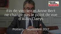 VIDEO. Poitiers : Alain Claeys défend sa loi sur la fin de vie