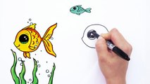 How To Draw A Cartoon Fish Cute And Easy Video Dailymotion