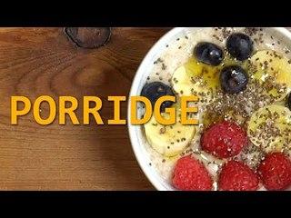 PORRIDGE de avena| Un desayuno fácil y saludable | Receta vegana