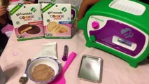 MAKING COOKIES for GRIM with GIRL SCOUTS COOKIE OVEN from WICKED COOL TOYS