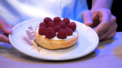 Sablé aux framboises crème chiboust - Ce Sera Tout ?