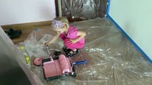 Painting the walls in the room for children,Malowanie ścian w pokoju dla dzieci