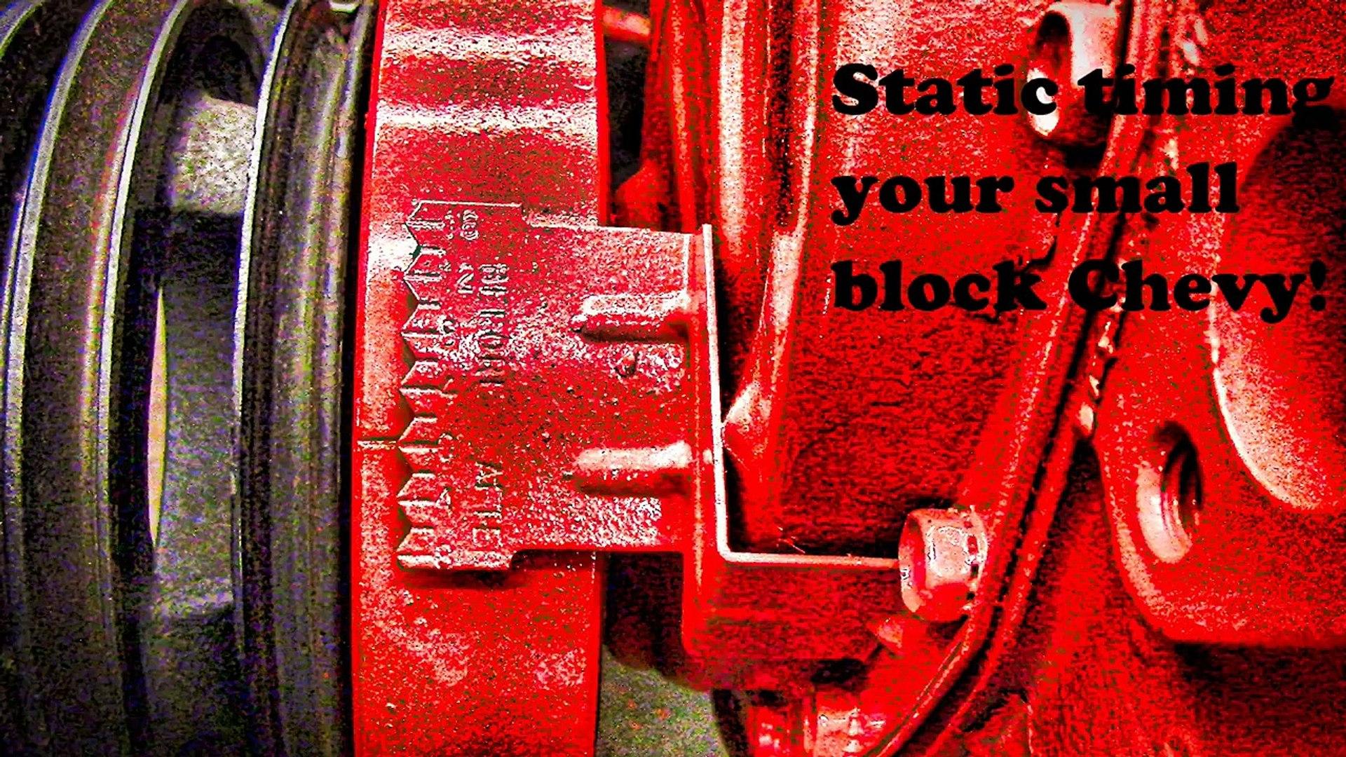Orange SBC Chevy 283-350 Timing Chain Cover Kit