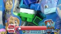 Paw Patrol Ionix Junior Adventure Bay Blok Set Pat Patrouille Chase Mega Bloks Jouet Toy Review