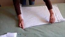 Towel folding turkey or bird, towel folding tutorial, towel animal, towel folding creativity.