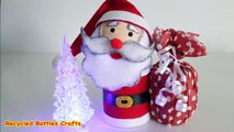 Recycled Crafts Ideas: DIY Santa Christmas Gifts |Plastic Bottles, Felt| - Recycled Bottles Crafts