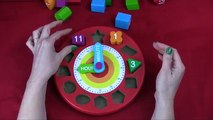 Number Clock - Lets Count and Learn Shapes, Colors and Numbers with Melissa and Doug Wooden Puzzle