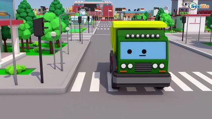 Cars & Trucks Stories - Ambulance rescue in the city after small cars crash - 3D Animation for kids