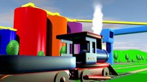 Colors learning animation with a train and colored balls in the color fory