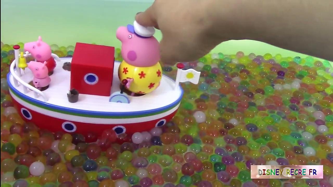 Bateau de vacances de Papy Pig Jouets de Peppa Pig ♥ Grandpa Pigs Holiday Boat