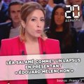 Léa Salamé commet un lapsus en présentant « Edouard Mélenchon »