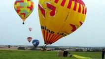 Fast hot air balloon landings (Lorraine Mondial Air Ballons new)