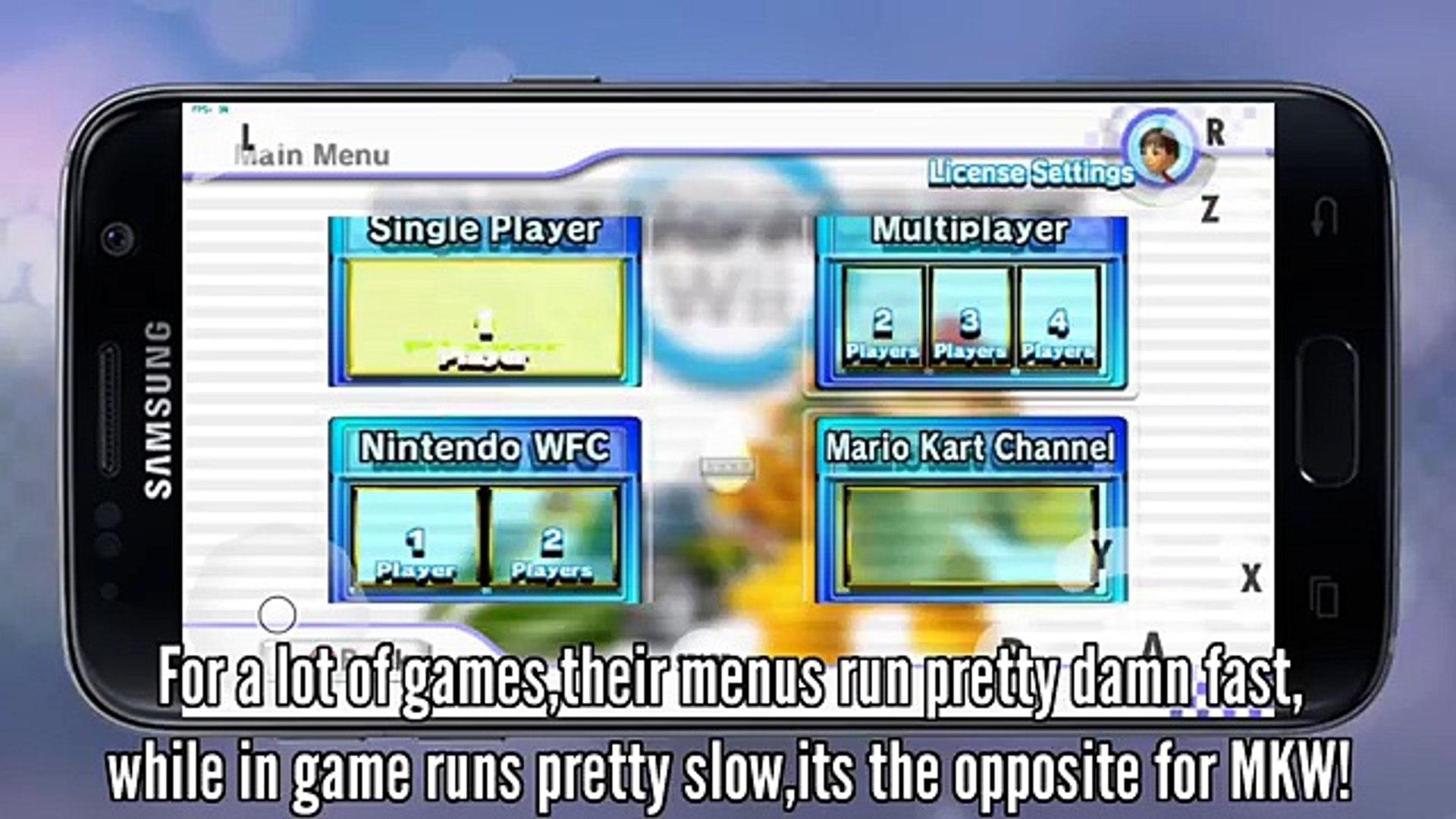 Mario Kart Wii on Galaxy S7 (Dolphin Emulator)