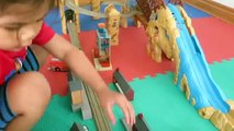 Thomas and Friends TrackMaster Thomas at Action Canyon Accidents Will Happen Kid Playing Toy Trains