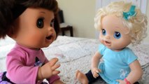 Naughty Baby Alive Molly Clones Herself! Part 1 - Baby Alive Talking
