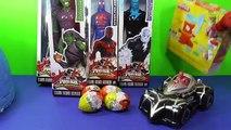 GIANT SpiderMan Hero Surprise Egg – SpiderMan 2099 Green Goblin Electro + Spider- Man Web Warriors