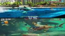 Hungry Shark World: Great White Shark VS Basking Shark