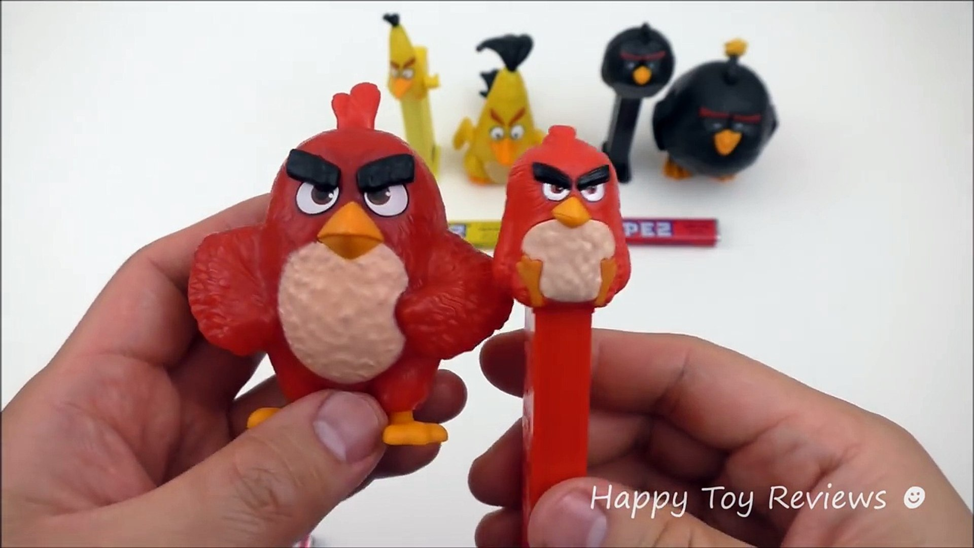 2016 Mcdonalds The Angry Birds Movie Happy Meal Toys Vs 3 Pez
