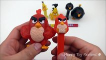 2016 McDONALDS THE ANGRY BIRDS MOVIE HAPPY MEAL TOYS VS 3 PEZ CANDY DISPENSERS ACTION BIRD CODES