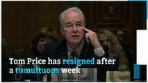 Tom Price resigns amid scrutiny of private jet use