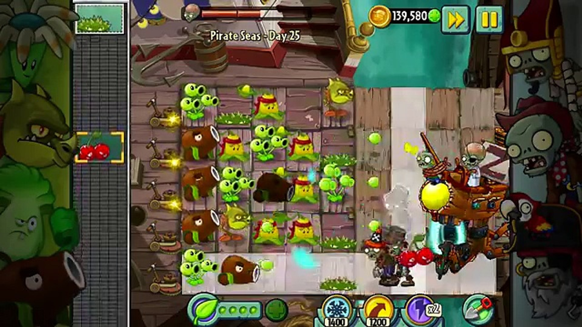 Plants vs. Zombies 2: Its About Time | DR. ZOMBOSS: ZOMBOT PLANK WALKER - Pirate Seas - 82 (iOS)