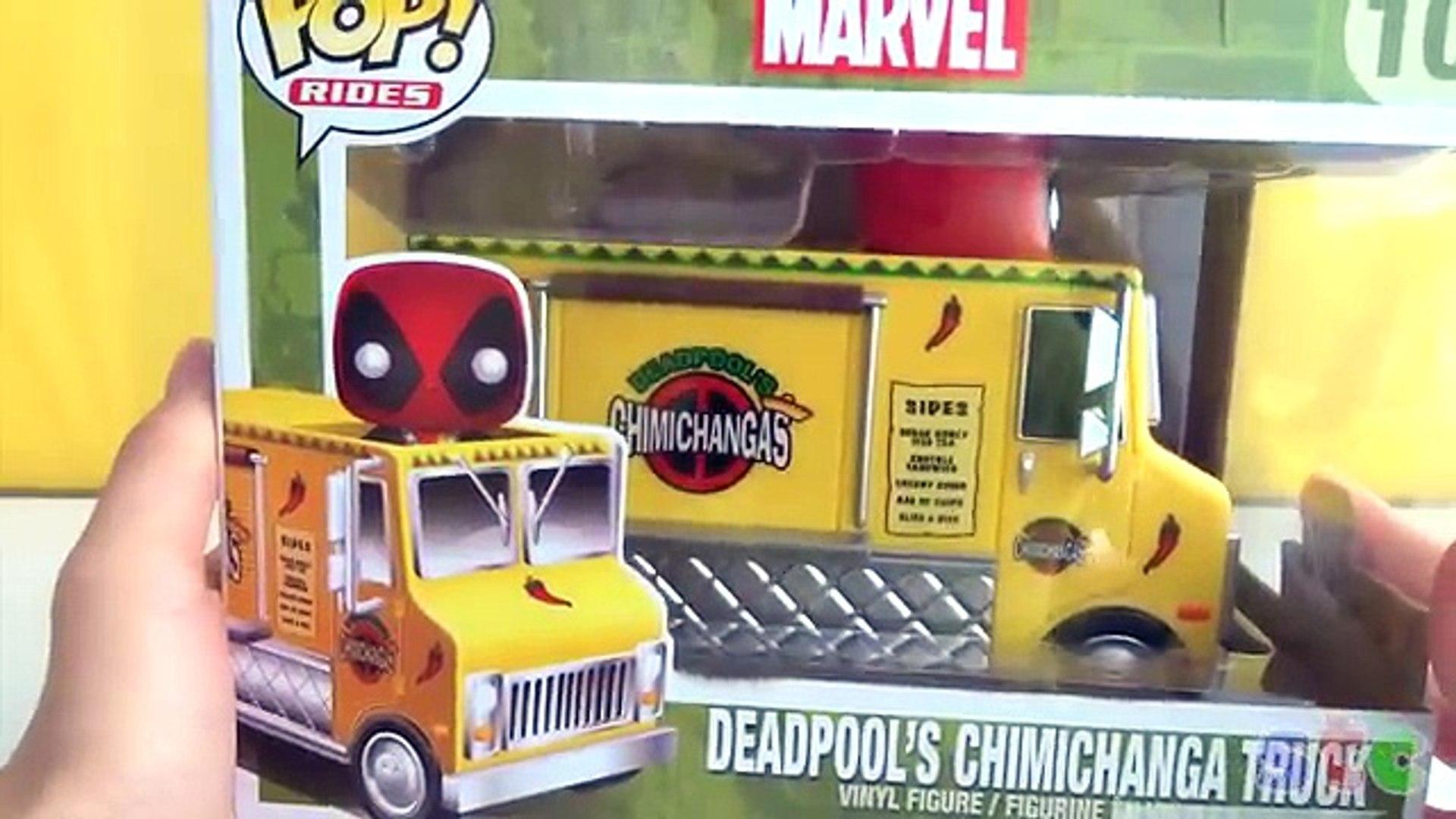 Deadpool Y Su Camion De Chimichangas Funko Pop Rides Video Dailymotion