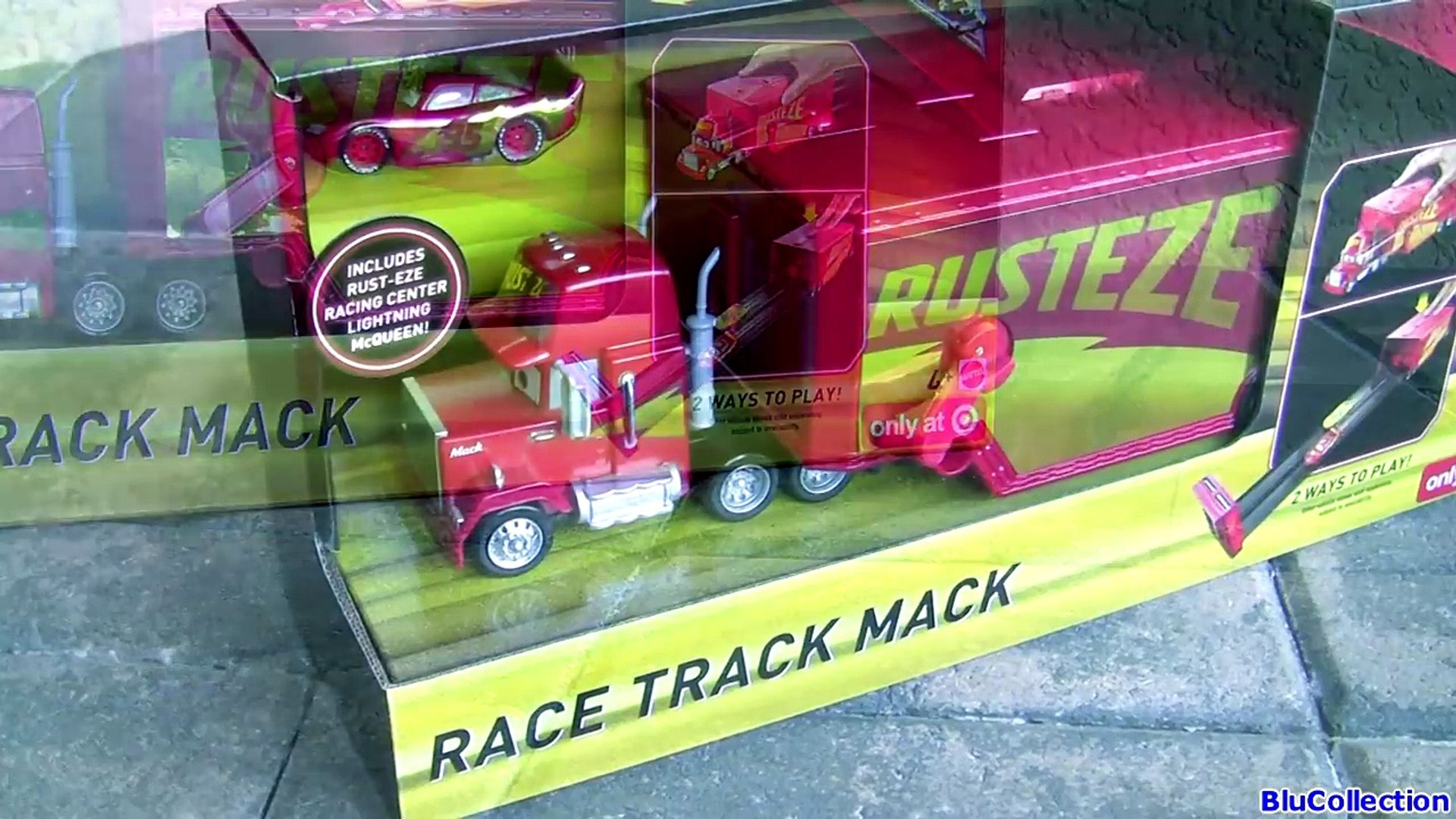 Disney Cars 3 Race Track Mack Playset New Rust Eze Racing Center