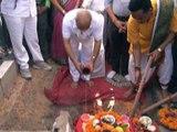 GUJARAT NEWS : IN GANDHINAGAR AT KALOL NANDASAN OVER BRIDGE OPENING BY GUJARAT DY CM BY NITIN PATEL
