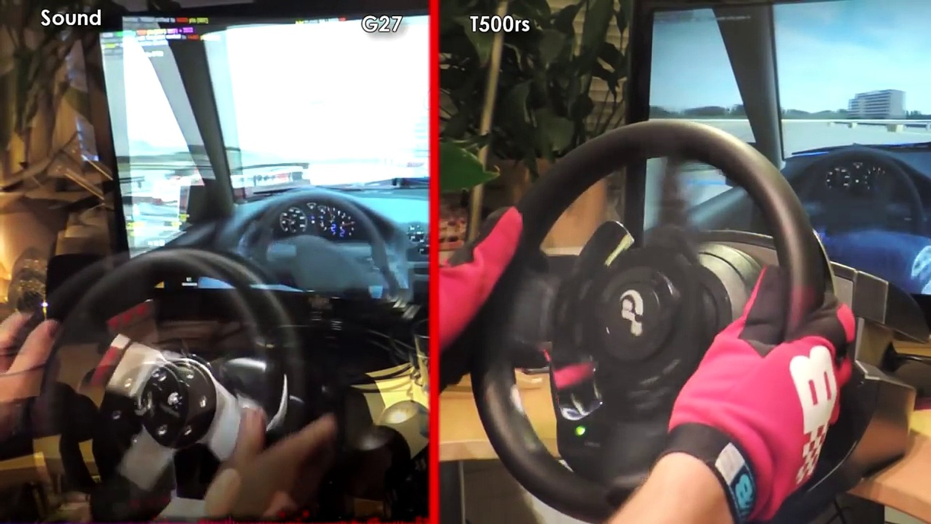 Logitech G27 vs  Thrustmaster T500 rs (TH8RS) vs  Driving Force GT -  Comparison, Review