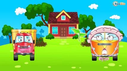 El Camión es Rojo y Sus Amigos infantiles - La zona de construcción - Carritos Para Niños