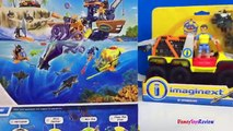 FISHER PRICE IMAGINEXT DEEP SEA SUB & MIGHTY MACHINE 6-WHEELER FROM DEEP OCEAN ADVENTURE -UNBOXING