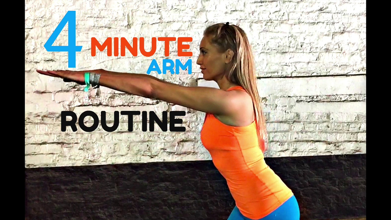 Home Workout 4 Minute Toned Arms Workout –