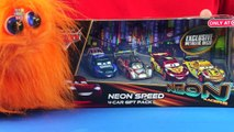 Disney Pixar Cars Lightning McQueen Neon Racers Speed 4 Car Gift Pack Review