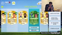 I PACKED TONS OF 100+ RATED GREEN CARDS! OVER 20 90+ RATED CARDS!! - FIFA 15/16 IOS/NS PACK OPENING