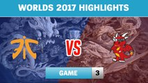 Highlights: FNC vs HKA Game 3 - Round 2 Play-In Stage Worlds 2017